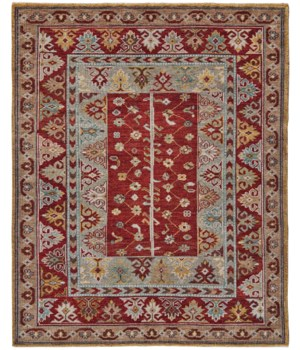 PIRAJ 6451F IN RED/RED 4' x 6'
