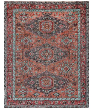 "PIRAJ 6452F IN RUST/AQUA 1'-6"" X 1'-6"" Square"