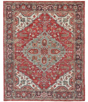 "PIRAJ 6453F IN IVORY/CHARCOAL 1'-6"" X 1'-6"" Square"