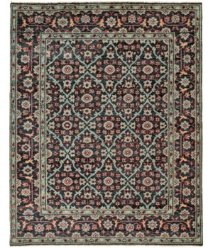 "PIRAJ 6463F IN NAVY/MULTI 7'-9"" x 9'-9"""
