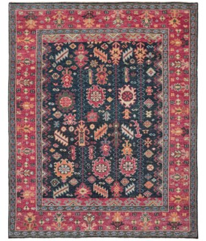 "PIRAJ 6741F IN BLUE/RED 5'-6"" x 8'-6"""