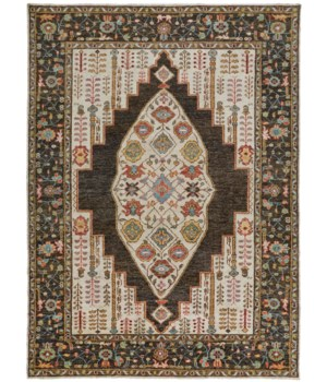 "PIRAJ 6755F IN BROWN/MULTI 8'-6"" x 11'-6"""