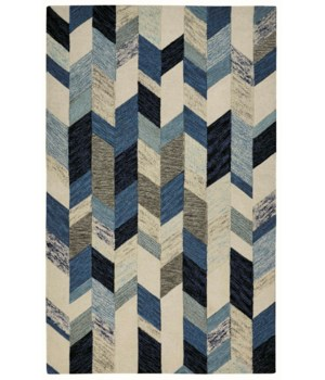 "ARAZAD 8446F IN BLUE/IVORY 1'-6"" X 1'-6"" Square"