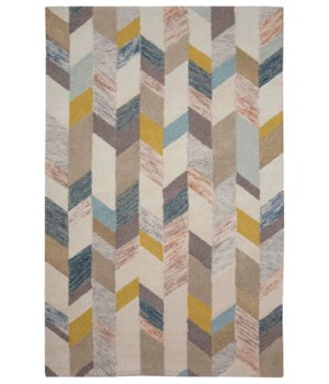 "ARAZAD 8446F IN GRAY/GOLD 3'-6"" x 5'-6"""