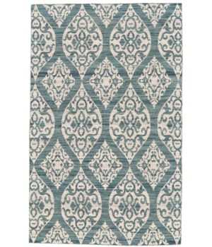 LEON 0114F IN BLUE/IVORY 5' x 8'
