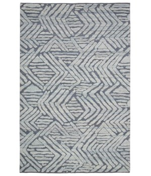 "NORAH 6060L IN LIGHT BLUE/DARK GRAY 5'-6"" x 8'-6"""