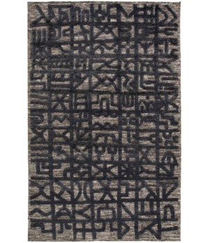 "NORAH 6062L IN BLACK/DARK GRAY 5'-6"" x 8'-6"""
