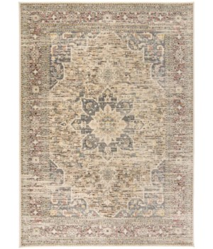 "GRAYSON 3578F IN BEIGE/MULTI 1'-6"" X 1'-6"" Square"