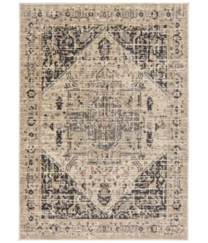 "GRAYSON 3579F IN CHARCOAL/BEIGE 1'-6"" X 1'-6"" Square"