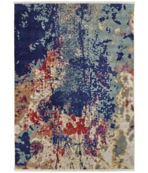 """TORINA 3886F IN BLUE/MULTI 3'-6"""" x 5'-6"""""""