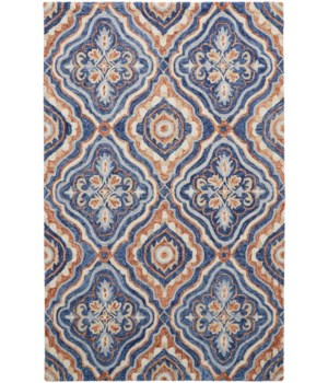 RHETT I8072 IN BLUE/RUST 8' x 10'