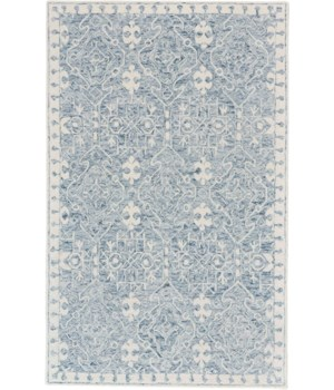 RHETT I8078 IN BLUE/IVORY 5' x 8'