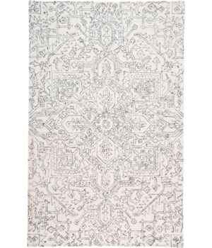 "BELFORT 8778F IN IVORY/CHARCOAL 1'-6"" X 1'-6"" Square"