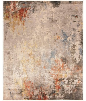 "GIA 6489F IN GRAY/MULTI 5'-6"" x 8'-6"""