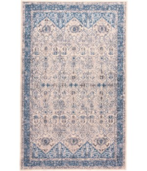 """AINSLEY 3899F IN IVORY/BLUE 4'-3"""" X 6'-3"""""""