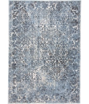 """AINSLEY 3900F IN BLUE / CHARCOAL 2'-10"""" X 7'-10"""""""