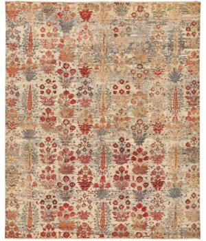 """SIENA 6586F IN RED/IVORY 7'-9"""" x 9'-9"""""""