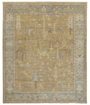"CARRINGTON 6501F IN GOLD/LIGHT BLUE 1'-6"" X 1'-6"" Square"