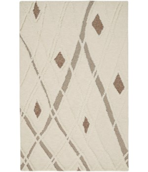 ANICA 8008F IN IVORY/BROWN 4' x 6'