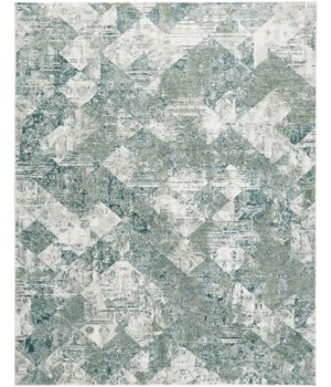 "ATWELL 3868F IN GREEN/MULTI 1'-6"" X 1'-6"" Square"