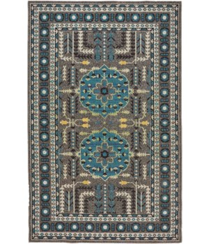 """FOSTER 3754F IN GRAY/BLUE 4'-3"""" X 6'-3"""""""