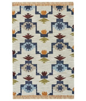 "FARIZA I8010 IN BLUE/IVORY 3'-6"" x 5'-6"""