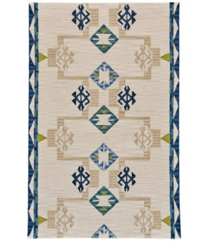 FARIZA I8011 IN BLUE/NATURAL 5' x 8'