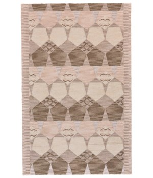 "FARIZA I8013 IN GRAY/TAUPE 3'-6"" x 5'-6"""