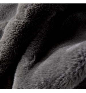 LUXE VELOUR THROW IN SLATE