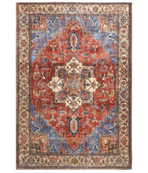 "PERCY 39AHF IN BLUE/RUST 1'-6"" X 1'-6"" Square"