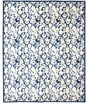"REMMY 3515F IN IVORY/BLUE 4'-3"" X 6'-3"""