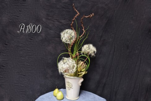 DANDELION & PODS ARRANGEMENT