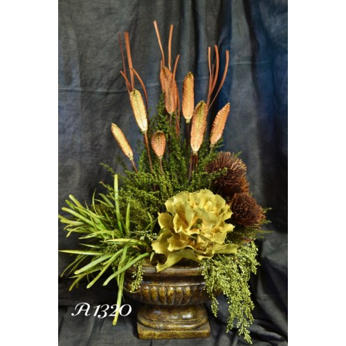 QUEEN FLOWER & PAPYRUS ARRANGEMENT