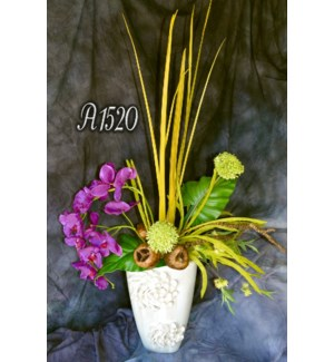 PHALELANOPSIS & FOXTAIL LILY CENTERPIECE