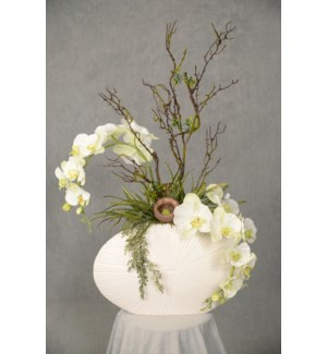 ORCHID & PODS CENTERPIECE- DOUBLE