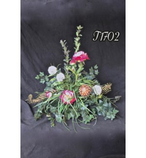 PEONY & SNOWBALL CENTERPIECE TILE TOPPER