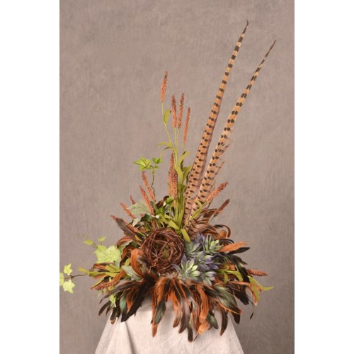 BROWN CATTAIL TOPPER