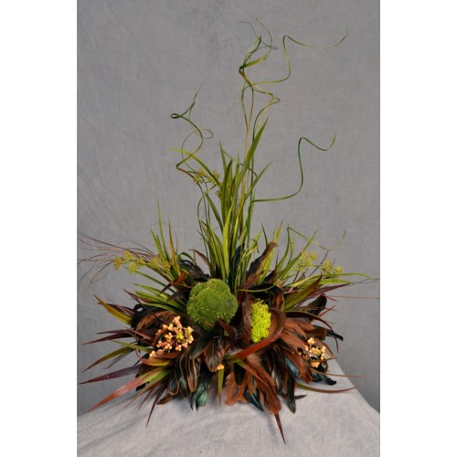 MOSS BALL & GRASSES TILE TOPPER CTPC.