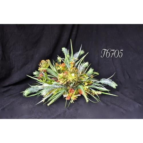 PEONY & SPINTER GRASS TILE TOPPER