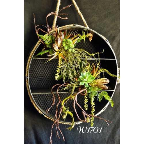 SUCCULENT & TWIG BRANCH WALL SHELF