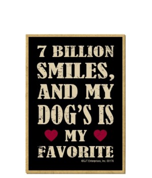7 Billion Smiles, Dog Favorite Magnet