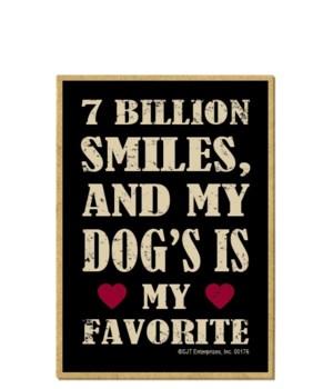 7 Billion Smiles, Dog Favorite Magnet