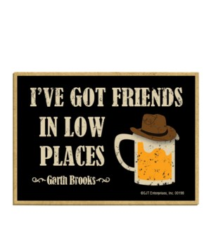 I've got friends in low places magnet