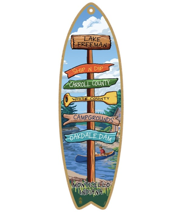 Destination River-Canoe Custom Surfboard