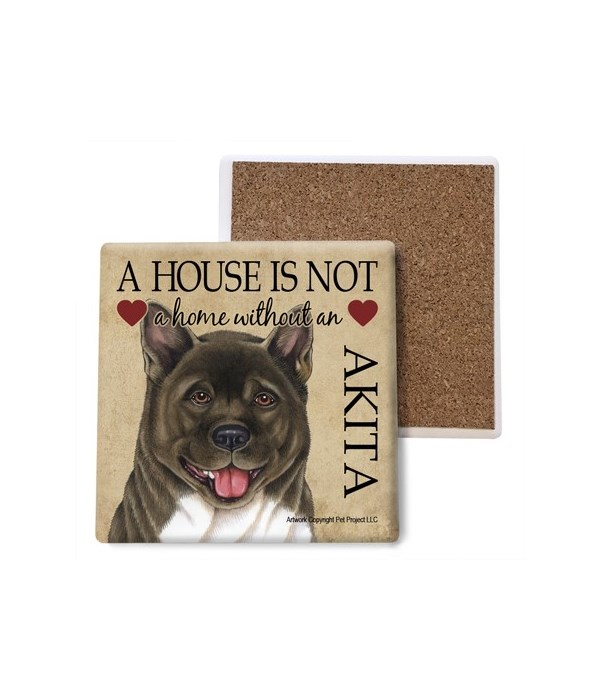 A house is Not a home without an Akita c