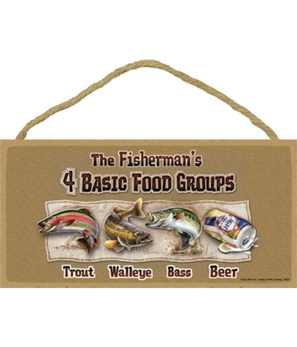 The Fisherman's 4 Basic Food Groups Trou