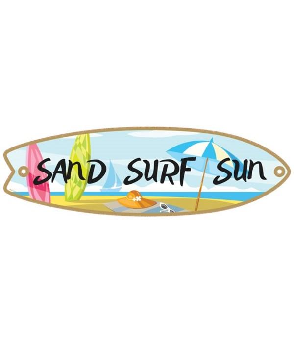 Sand Surf Sun Surfboard