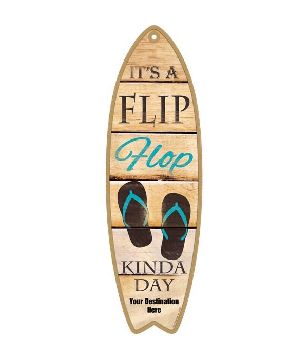 It's a Flip Flop kinda day - teal flip f