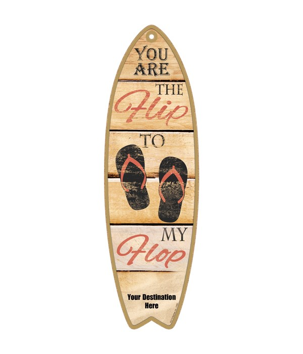 You are the Flip to my Flop - red flip f