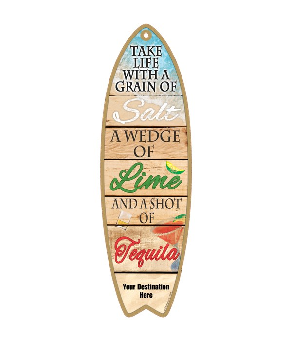 Take life with a grain of Salt, A wedge